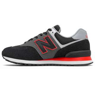 NEW BALANCE ML574 Sneaker Herren black-red
