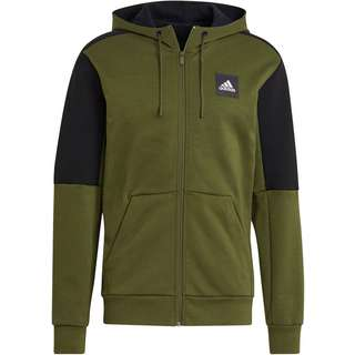 adidas Must Haves Enhanced Sweatjacke Herren wild pine