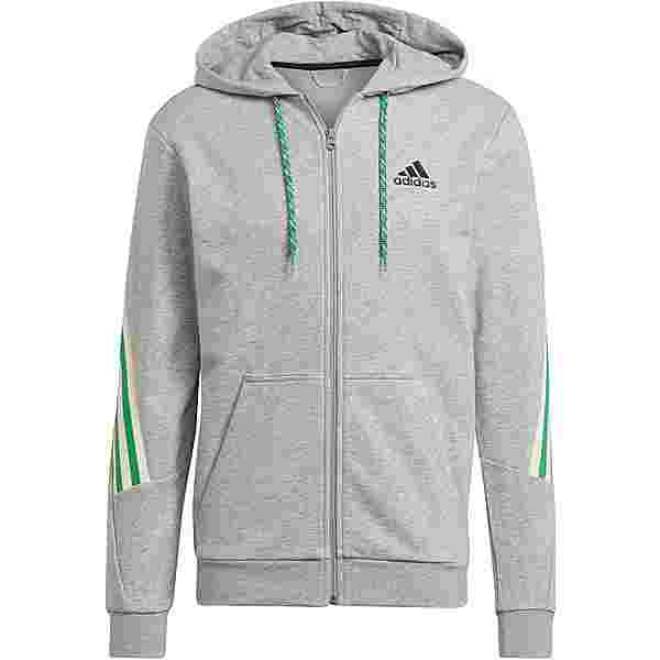 adidas 3S Sweatjacke Herren medium grey heather
