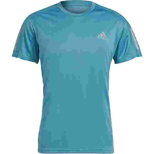 adidas Own the Run Response Aeroready Funktionsshirt Herren hazy blue