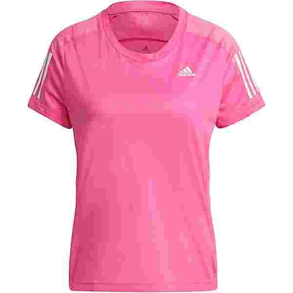 adidas OWN THE RUN RESPONSE AEROREADY Funktionsshirt Damen screaming pink