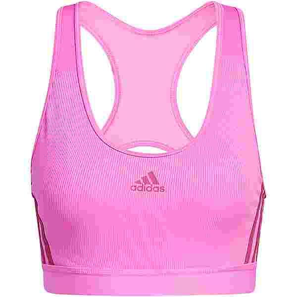 adidas BELIEVE THIS 3-STRIPES RIBBEDAEROREADY BH Damen screaming pink-wild