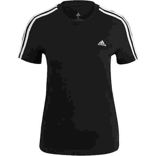 adidas 3-STRIPES SPORT ESSENTIALS T-Shirt Damen black-white