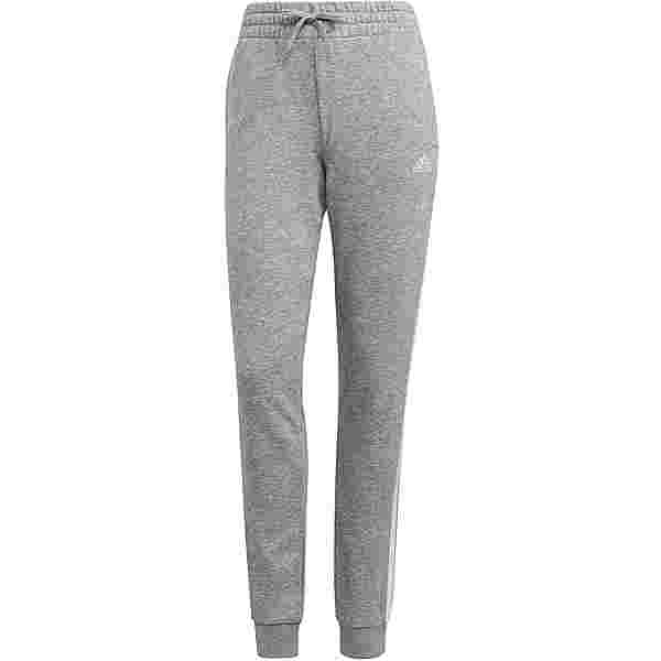 adidas 3-STRIPES SPORT ESSENTIALS Sweathose Damen medium grey heather-white