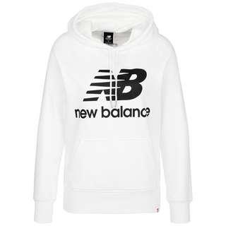NEW BALANCE Essentials Hoodie Damen weiß / schwarz