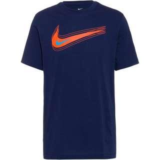 Nike NSW Swoosh T-Shirt Herren midnight navy-turf orange