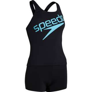 SPEEDO Bikini Set Damen black-light adriatic