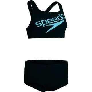 SPEEDO Bikini Set Damen black-light adriatic