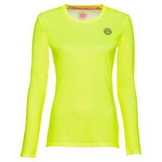 BIDI BADU Mina Tech Roundneck Longsleeve Tennisshirt Kinder neongelb