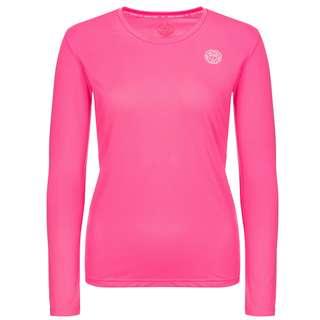 BIDI BADU Mina Tech Roundneck Longsleeve Tennisshirt Kinder pink