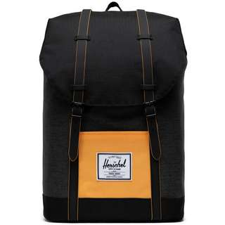 Herschel Rucksack Retreat Daypack black crosshatch-black-blazing orange