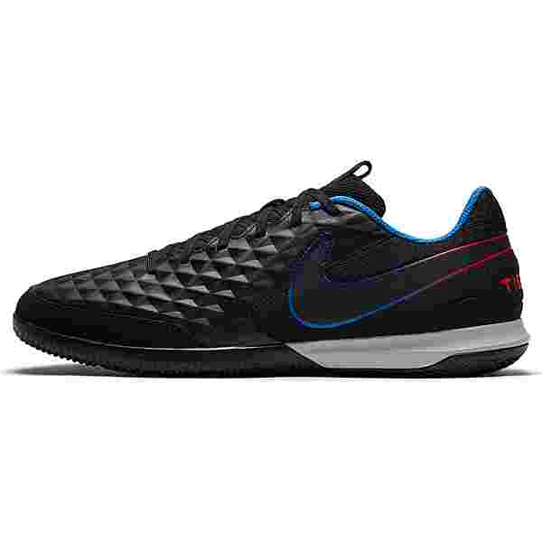 Nike Tiempo Legend 8 Academy IC Fußballschuhe black-black-siren red-lt photo blue