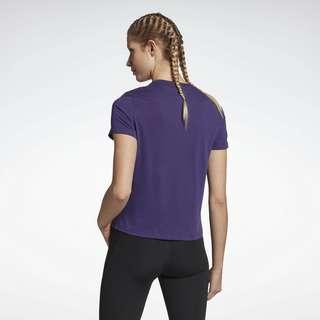 Reebok Workout Ready Supremium Big Logo T-Shirt Funktionsshirt Damen Lila