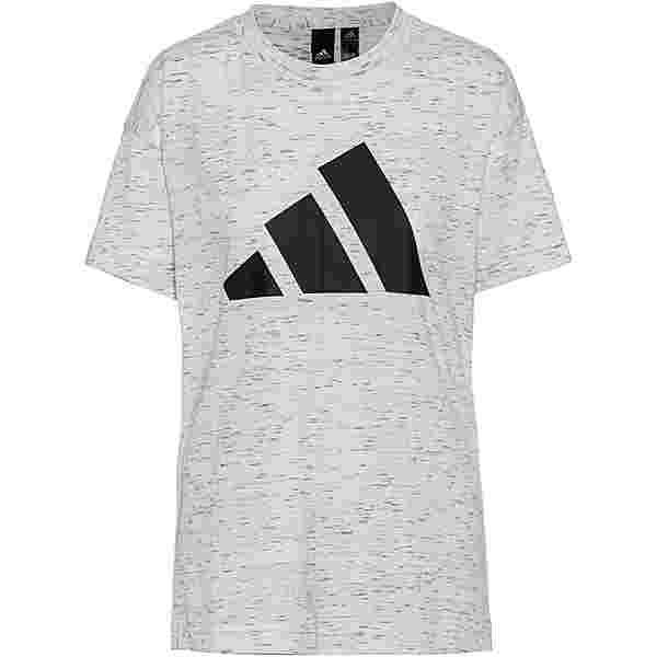 adidas T-Shirt Damen white melange