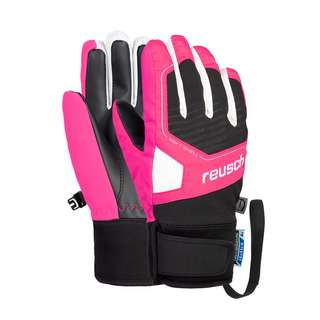 Reusch Torby R-TEX® XT Junior Skihandschuhe Kinder black/ knockout pink