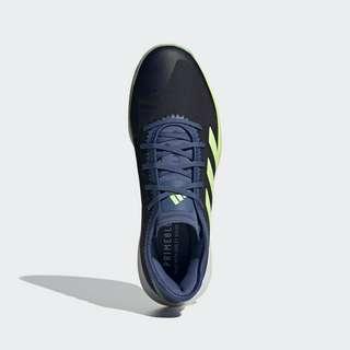 adidas Adizero Fast Court Schuh Fitnessschuhe Herren Legend Ink / Hi-Res Yellow / Crew Blue