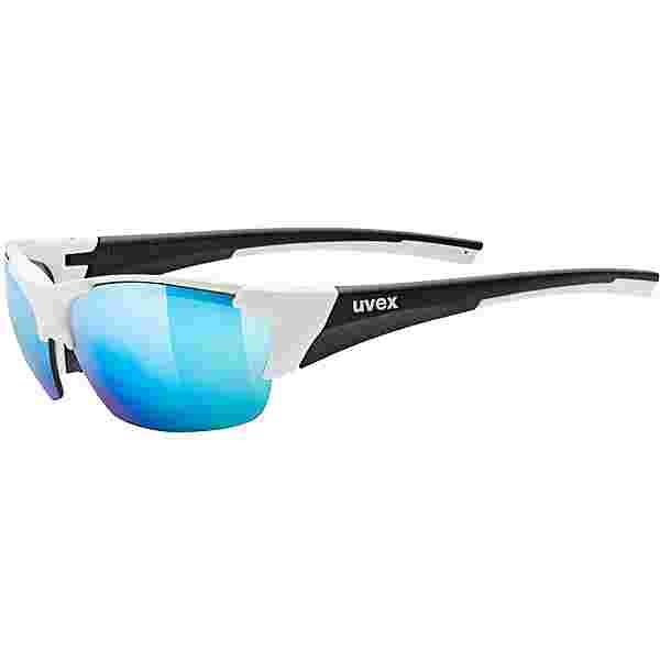 Uvex blaze III Sportbrille white-black mat
