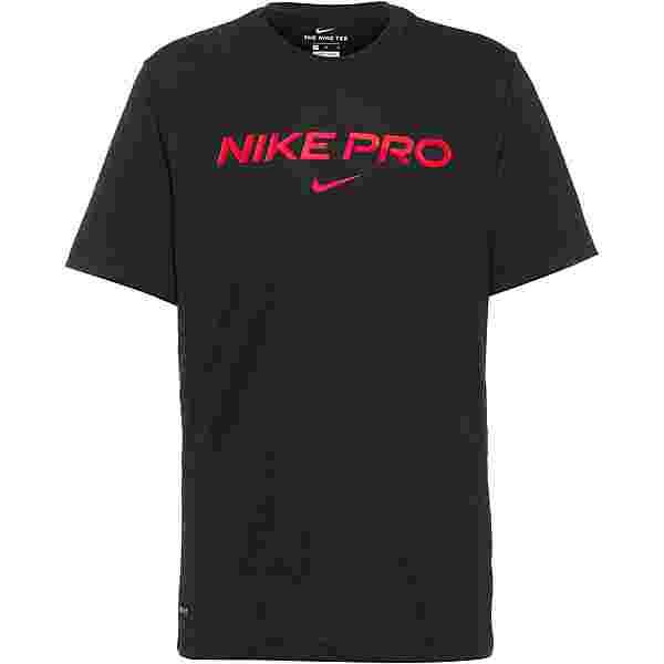 Nike Pro Funktionsshirt Herren black-bright crimson