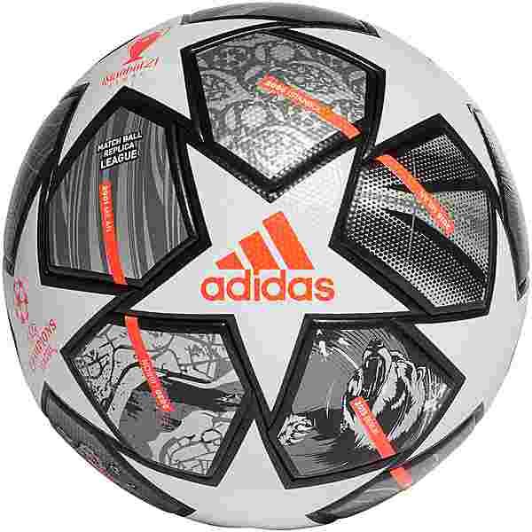 adidas Finale League Fußball white-iron met.-silver met.