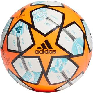 adidas Finale Club Fußball white-solar orange-pantone-iron met.