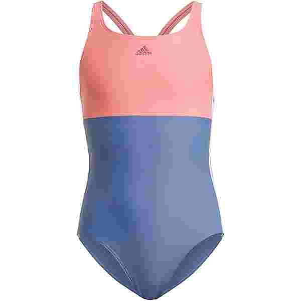 adidas 3-STRIPES PRIMEBLUE Badeanzug Kinder crew blue