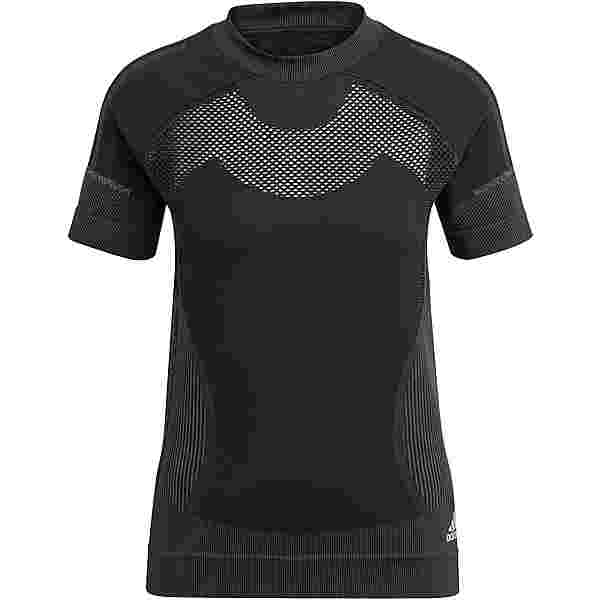 adidas PRIMEKNIT Funktionsshirt Damen black-dgh solid grey