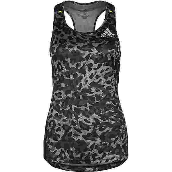adidas PRIMEBLUE SUPERNOVA AEROREADY Funktionstank Damen grey four-black-multicolor