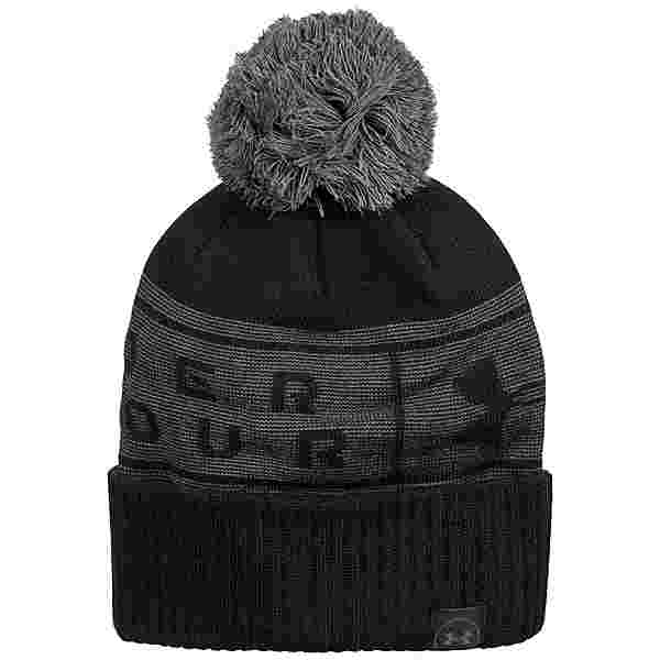 Under Armour Big Logo Pom Beanie Herren schwarz / grau