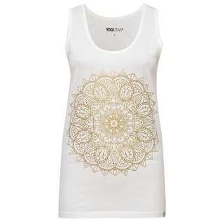 YOGISTAR.COM Mandala Funktionsshirt Damen white