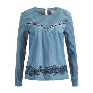 Khujo CLAUDIRA Langarmshirt Damen blau