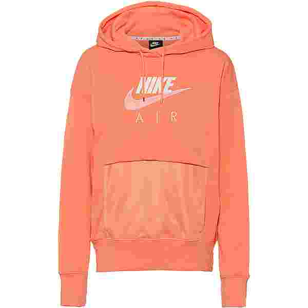 Nike NSW Air Hoodie Damen crimson bliss/white