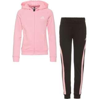 adidas G Hooded CO TS Trainingsanzug Kinder top:light pink/black bottom:black/light pink