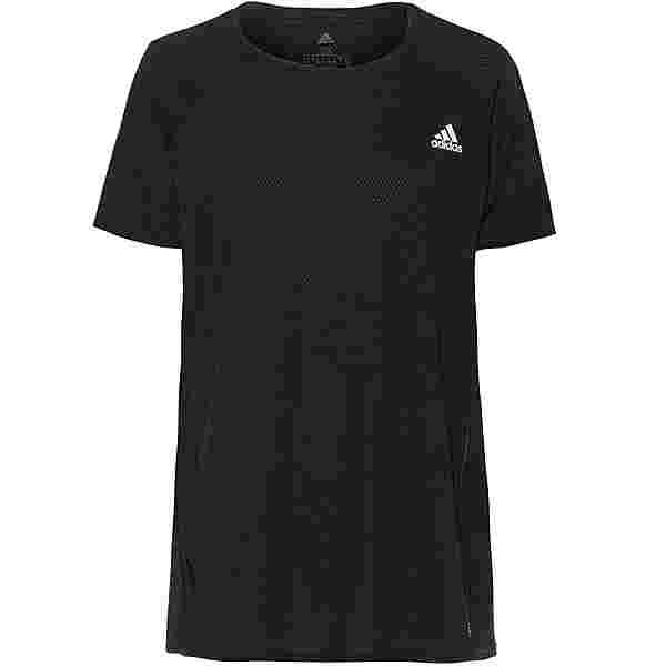 adidas Plus Size Funktionsshirt Damen black-reflective silver