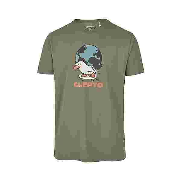 Cleptomanicx Going Round Printshirt Herren Thyme