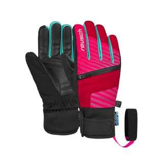 Reusch Theo R-TEX® XT Junior Skihandschuhe Kinder tango red/pink glo