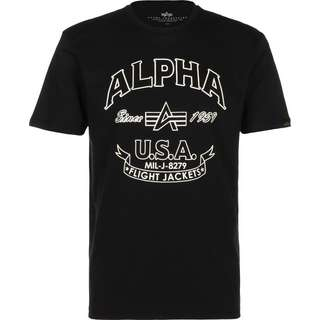Alpha Industries Alpha FJ T-Shirt Herren schwarz