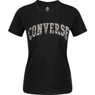 CONVERSE Twisted Varsity Pattern T-Shirt Damen schwarz