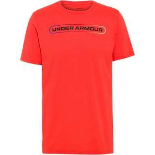 Under Armour Lockertag Funktionsshirt Herren venom red-black