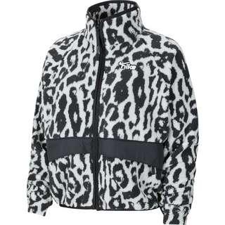 Nike Sherpa Winterjacke Damen schwarz/weiß