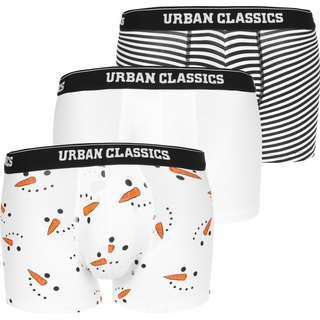 Urban Classics Snowman 3-Pack Boxershorts Herren weiß