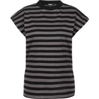 Urban Classics Y/D Stripe T-Shirt Damen grau/schwarz