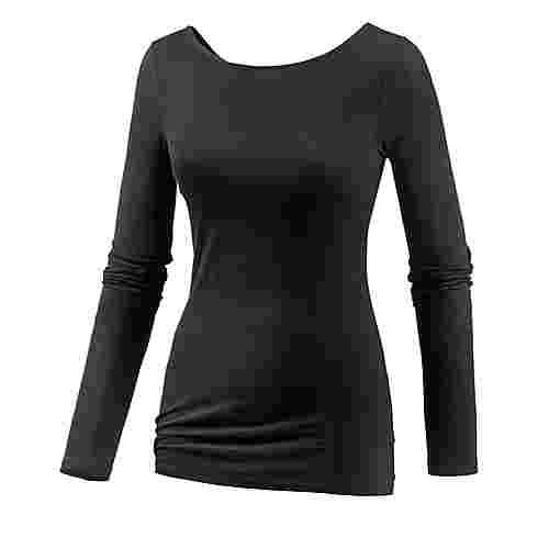 Maui Wowie Printlangarmshirt Damen schwarz