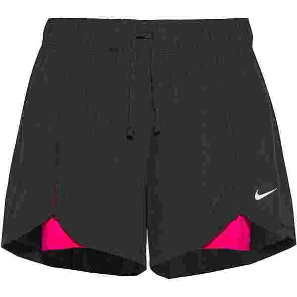 Nike FLEX ESSENTIAL 2-IN-1 Funktionsshorts Damen black-fireberry-white