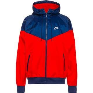Nike NSW Windrunner Nylonjacke Herren university red-midnight navy-white