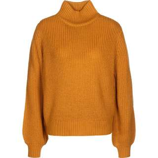 Noisy May Tommy High Neck Strickpullover Damen gelb