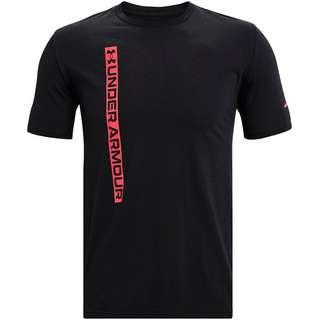 Under Armour Vertical T-Shirt Herren black-pink shock