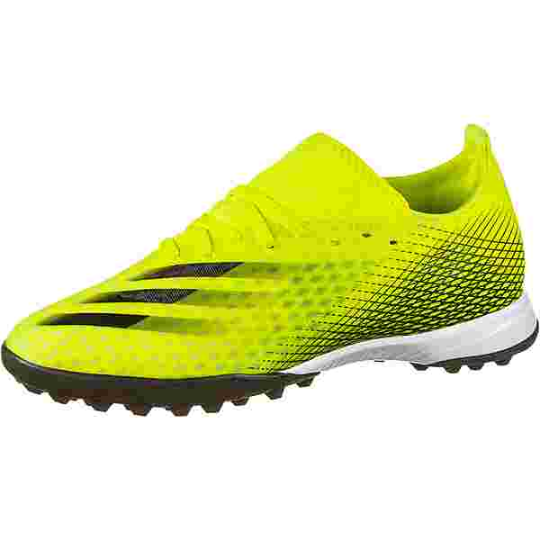 adidas X GHOSTED.3 TF Fußballschuhe solar yellow-core black-team royal blue