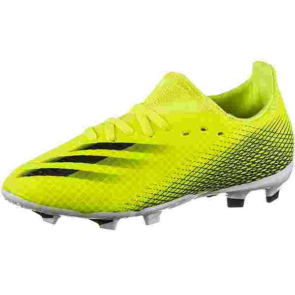 adidas X GHOSTED.3 FG J Fußballschuhe Kinder solar yellow-core black-team royal blue