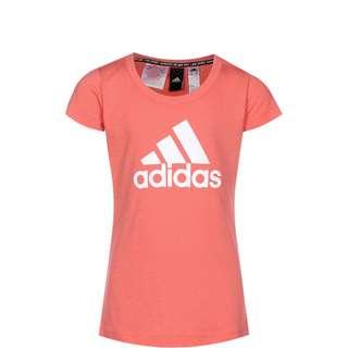 adidas Must Haves Badge Of Sport Funktionsshirt Kinder korall / weiß