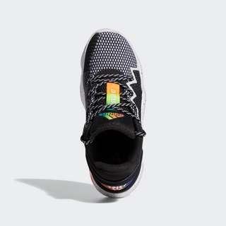 adidas D.O.N. Issue #2 Basketballschuh Sneaker Kinder Core Black / Cloud White / Solar Red